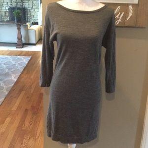 A Pea in The Pod Wool Gray Sweater Dress